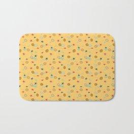 seashells and starfishes - yellow orange Bath Mat