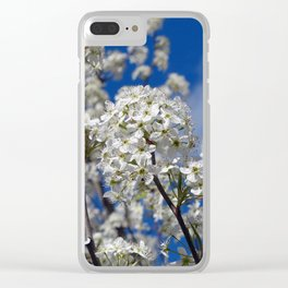Bradford Pear Blooms Clear iPhone Case