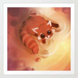 Cute Racoon Art Print
