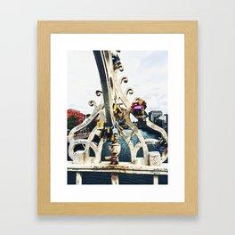 Love Locks on the Ha'penny Bridge Framed Art Print