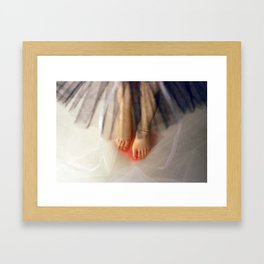 I was black swan Framed Art Print
