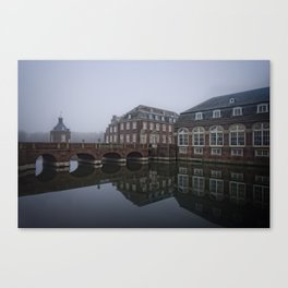 Bridge At Schloss Nordkirchen Canvas Print