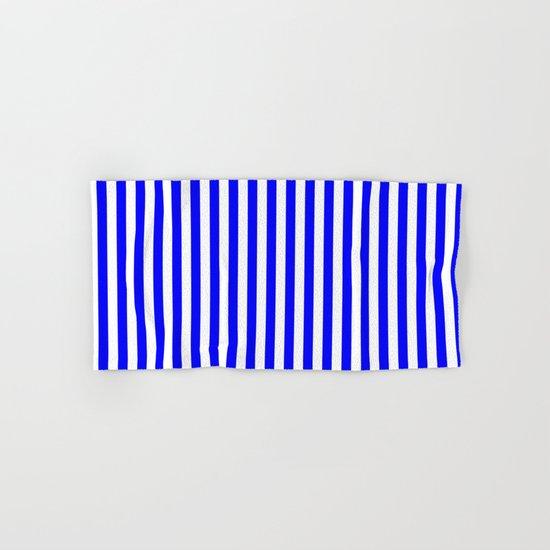 Vertical Stripes (Blue/White) Hand & Bath Towel