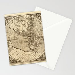 Map Of America 1595 Stationery Cards