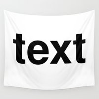 text Wall Tapestries featuring text by linguistic94