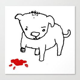 poor dog Canvas Print