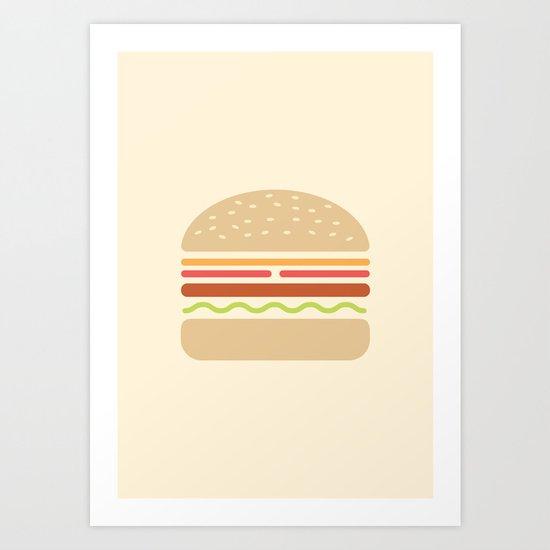 #62 Hamburger Art Print