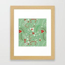 Mistletoe green Framed Art Print