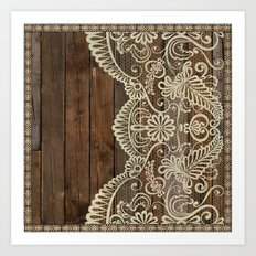WOOD & LACE Art Print