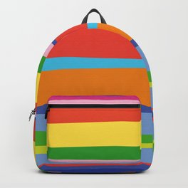 Bright Colorful Maritime Stripes Backpack