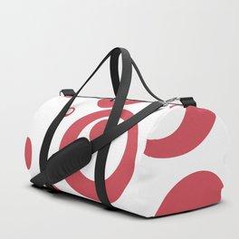 Circles Dots Bubbles :: Inverse Berry Blush Duffle Bag