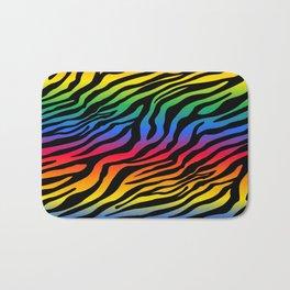 Zazzy Zebras - Rainbow Bath Mat