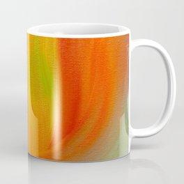 """Orange Blossom"" Original oil finger painting by Monika Toth Coffee Mug"