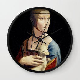 The Lady with an Ermine - Leonardo da Vinci Wall Clock