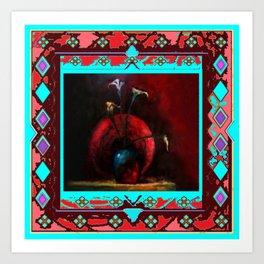 Southwest Calla Lily Impressionist Painting Art Print