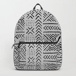 Line Mud Cloth // Light Grey Backpack