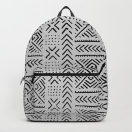 Line Mud Cloth // Light Grey Backpack