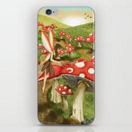 Toadstool Painting iPhone Skin