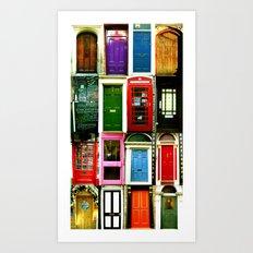 Doors of England Art Print