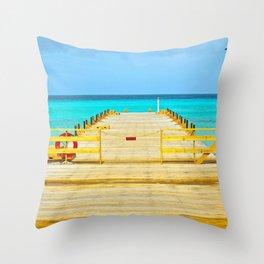 Paradise Pier Throw Pillow
