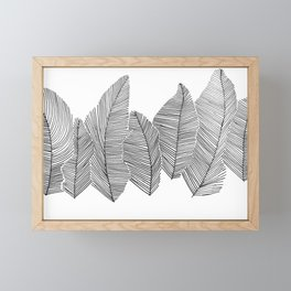 drawn feathers Framed Mini Art Print