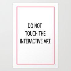 Paranoid  title card Art Print