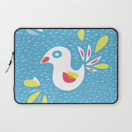 Abstract Bird In Spring Laptop Sleeve