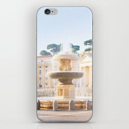 211. Peter's Fountain, Rome iPhone Skin