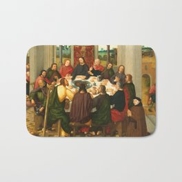 The Last Supper - 15th Century Painting Bath Mat
