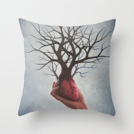 Nourishing Heart Throw Pillow