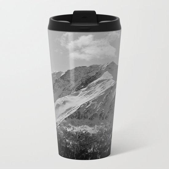 Snowy Alaskan Mountain Metal Travel Mug
