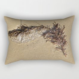 Barwon Heads Print | Bellarine Peninsula | Brown Seaweed on the Sand Rectangular Pillow