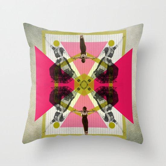 Bollywood geometrical gym Throw Pillow