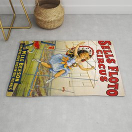 1900 Floto Dog & Pony Show and the Sells Brothers Circus High Wire Act Poster Rug