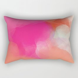 dreamy days in pink peach aquarell Rectangular Pillow