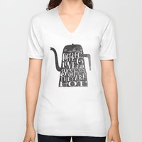 coffee V-neck T-shirts featuring COFFEE & LOVE by Matthew Taylor Wilson