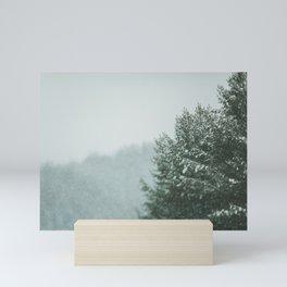 Forest in winter Mini Art Print