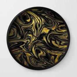 Digital Marble & Gold Wall Clock