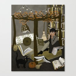 floating books ii Canvas Print