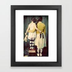 Two Girls Framed Art Print