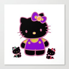 Cute Pink Funny Kitty Canvas Print