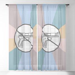 No Guns 2 Sheer Curtain