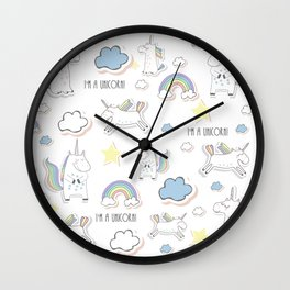 I am a Unicorn Wall Clock