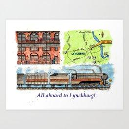All Aboard to Lynchburg! Art Print