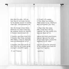 For what it's worth -  F Scott Fitzgerald Blackout Curtain
