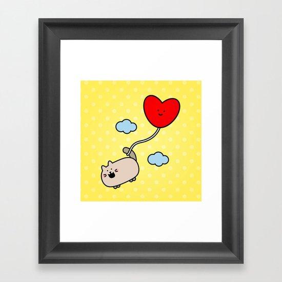 Kimmi's Love is 0n Cloud 9 Framed Art Print