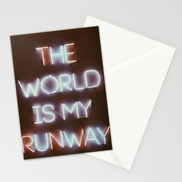 The World is my Runway (color) Stationery Cards