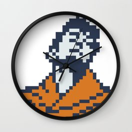 Dev Anand as Guide minimal pixel art Wall Clock