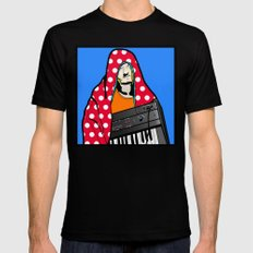 Röyksopp Forever Roy Lichtenstein Inspired Portrait 2 Black Mens Fitted Tee SMALL