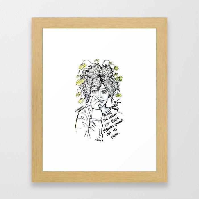 #STUKGIRL SUMMER Framed Art Print
